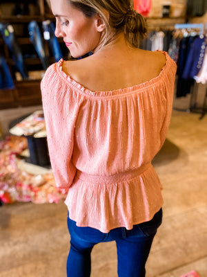 Day Dreamin' Smocked Waist Blouse