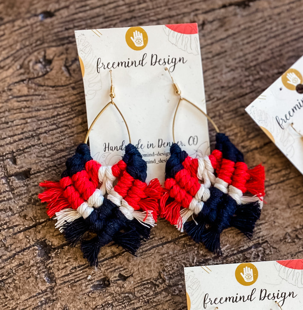 Game Day Macrame Earrings