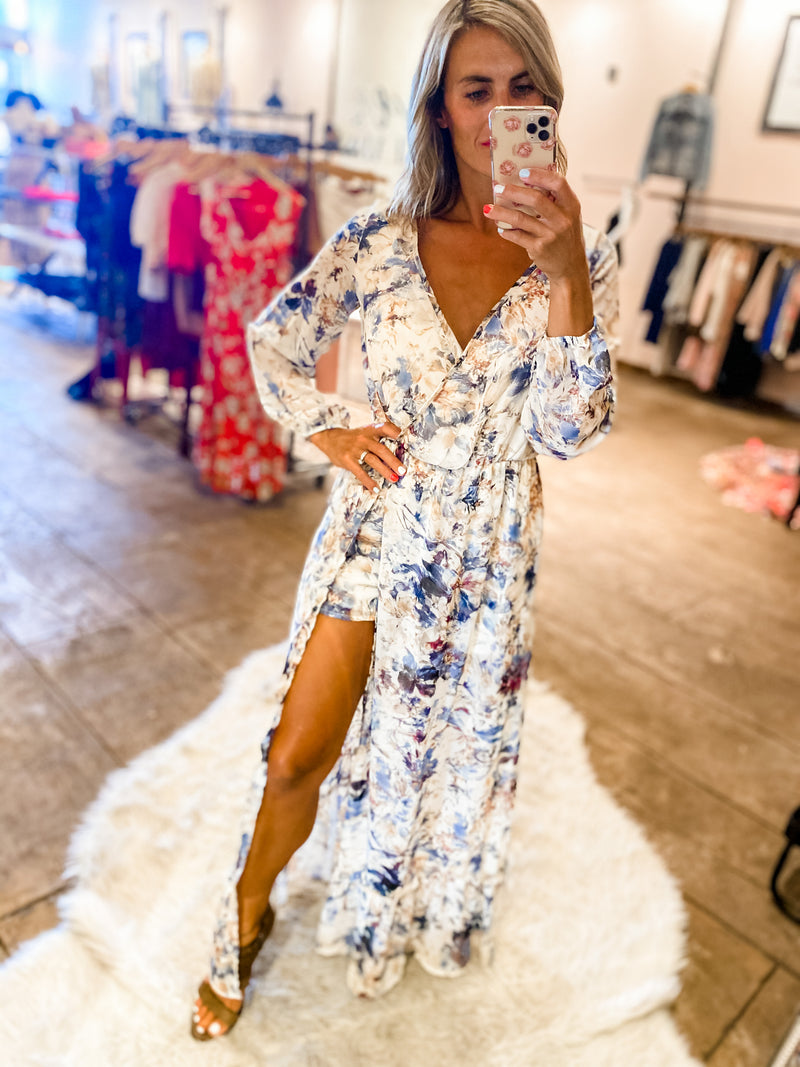 Sweep Me Off My Feet Maxi Romper