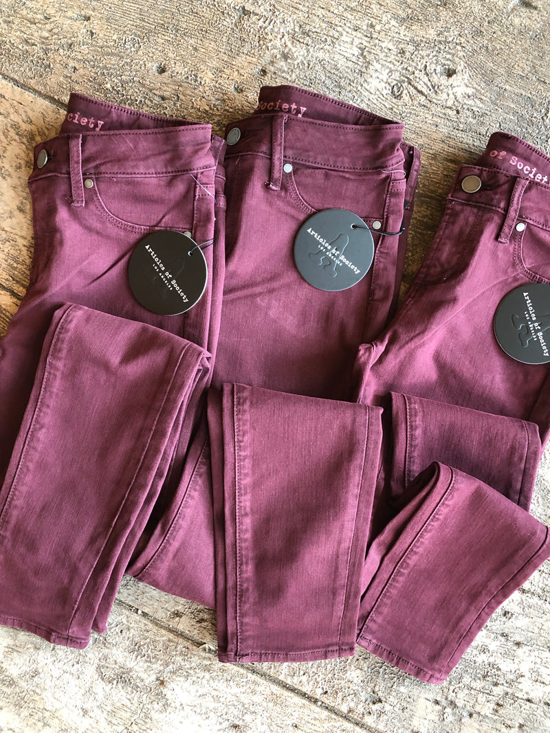 Articles of Society Maroon Denim