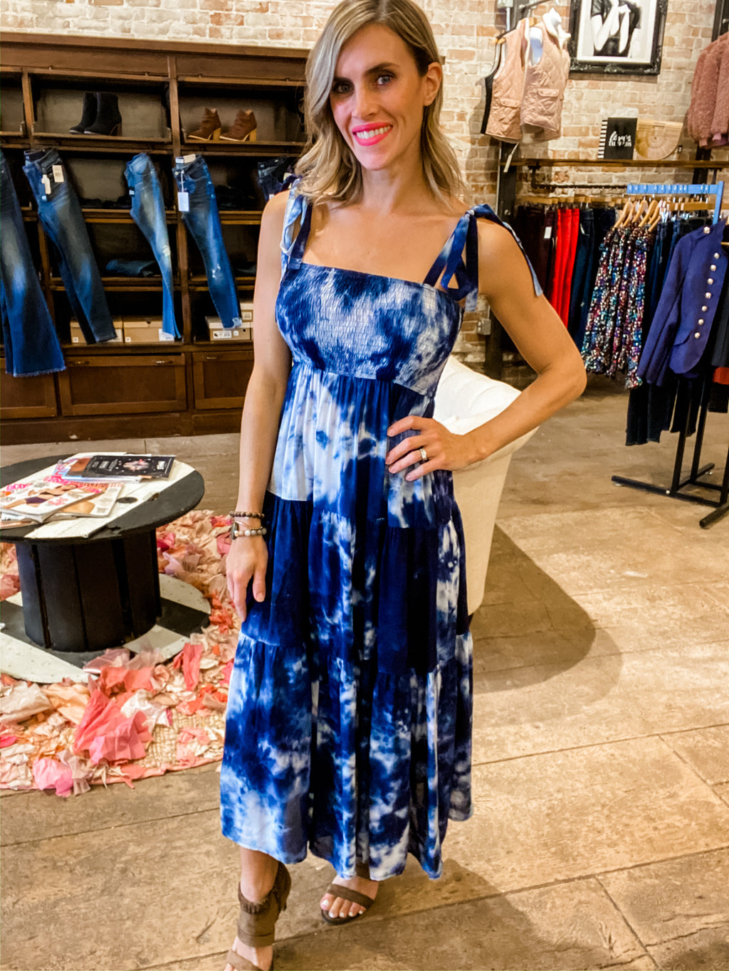 Tie-Dying For You Smocked Maxi Dress