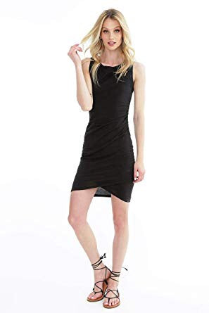 Bobi Ruched Side Tank Dress