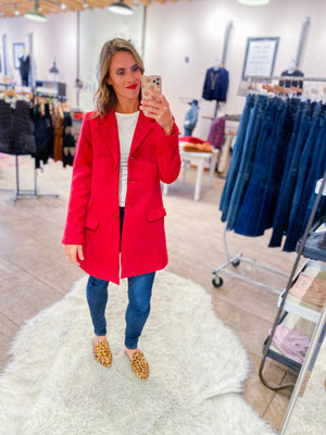 BB Dakota Whiskey Business Red Twill Coat
