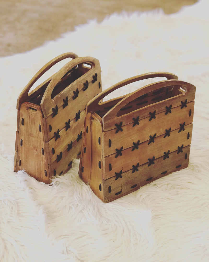 """X"" Marks The Spot Wood Clutch"