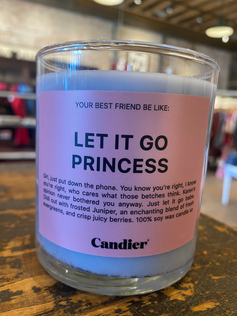 LET IT GO PRINCESS Candle