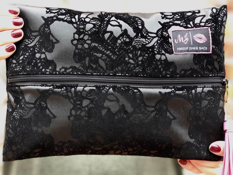 Makeup Junkie Leather & Lace Bag