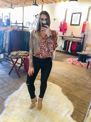 End Game Pink Leopard Bodysuit