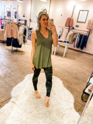 My Favorite Tunic Tank in Olive