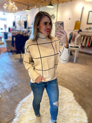 Class Act Mock Neck Sweater