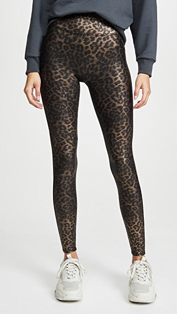 Spanx Faux Leather Leopard Legging