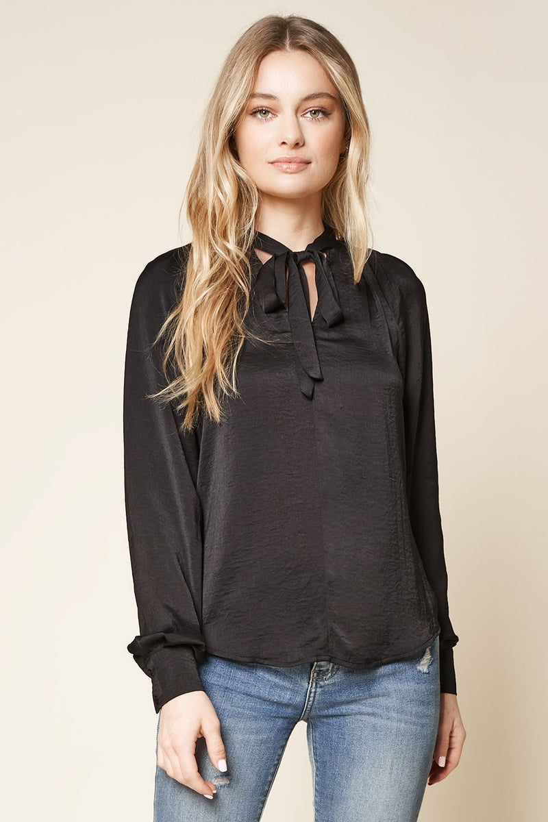 Huntress Neck Tie Blouse