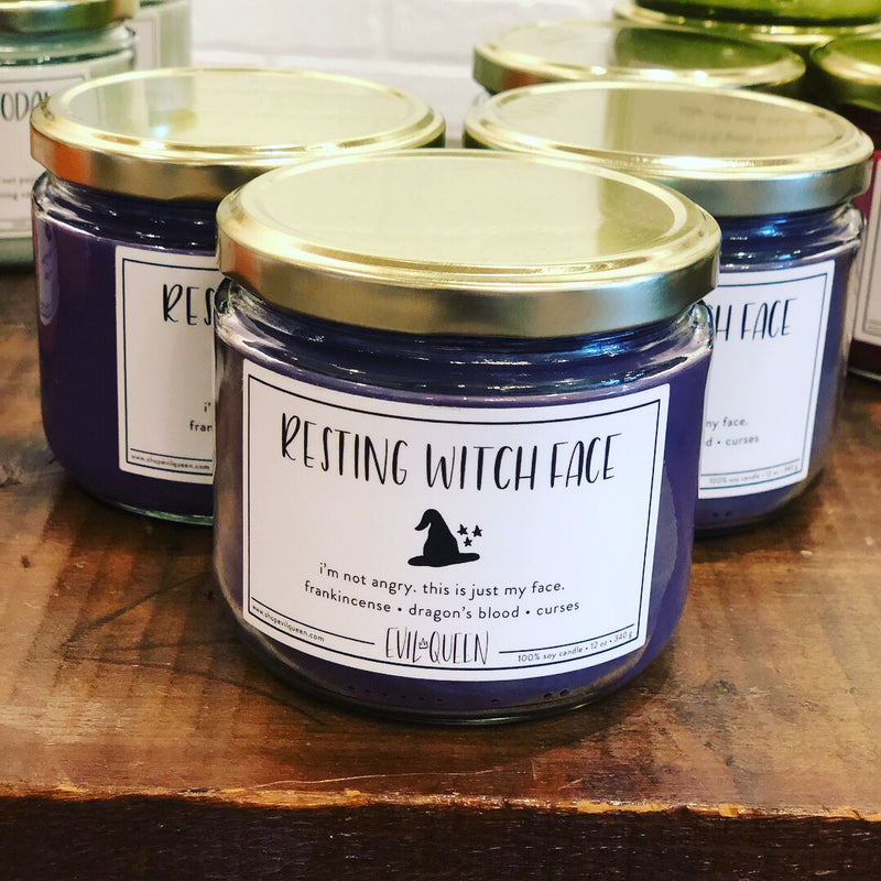 Evil Queen Resting Witch Face Candle