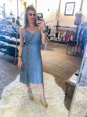 Chambray All Day Midi Dress