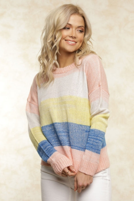 FLETCH Lemon Stripe Sweater