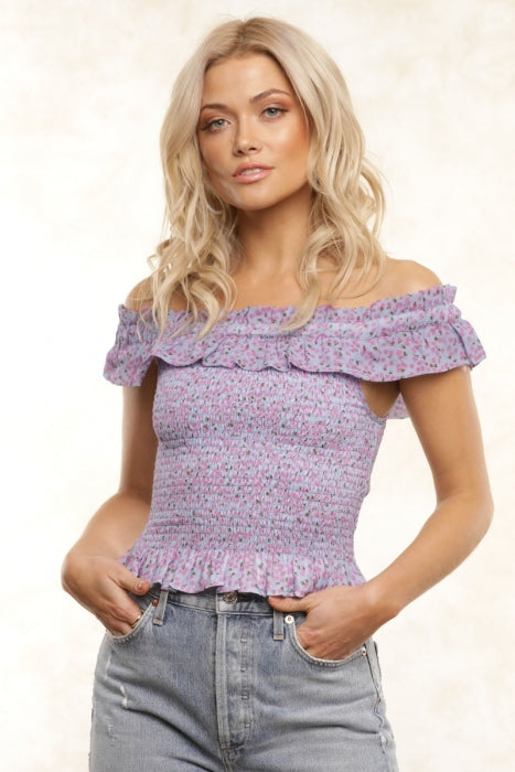 CARLA SMOCKING TUBE TOP