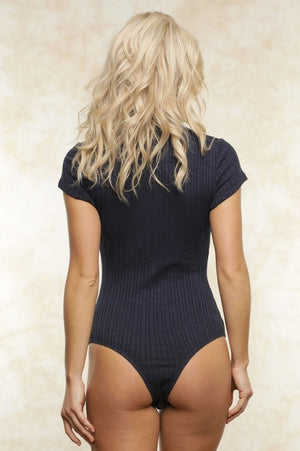 FLETCH Navy Lexi Ribbed Bodysuit