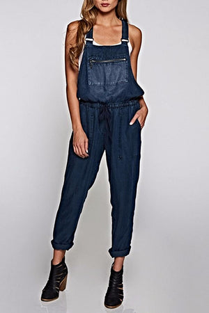 The Hadley Overall in Midnight Wash