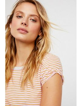 Free People Striped Clare Tee