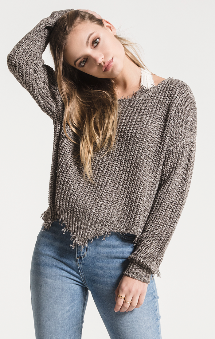 Valle Distressed Knit Sweater