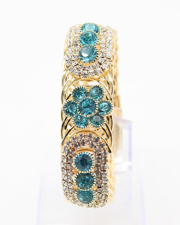 Crystal Stones and Turquoise Flower Design