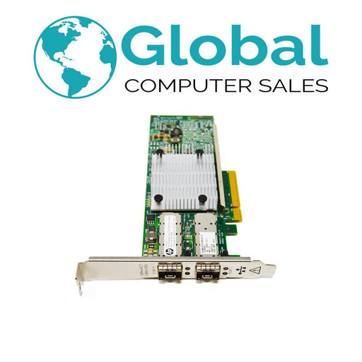 HP 82Q 8GB FC PCI-e Host Bus Adapter QLE2562 AJ764A 489191-001 w/ Both Brackets HPE