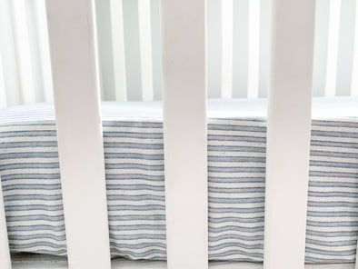 French Stripes- Crib Sheet