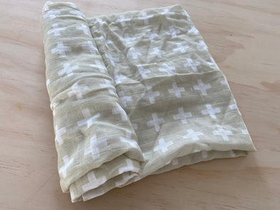 Taupe cross- SnuggleableSwaddle