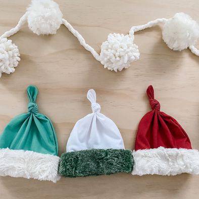 Santas helper newborn hats