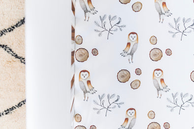 Barn Owl Changing Pad Cover- PVB EXCLUSIVE
