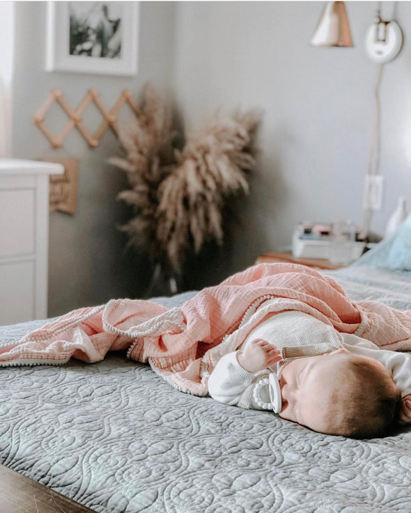 Blush Pom SnuggleableSwaddle™️