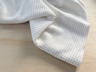 Cozy Waffle Knit Blanket | multiple sizes - milk