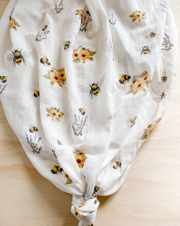 Bee Garden SnuggleableSwaddle- PVB Exclusive