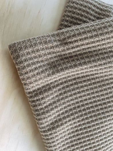 Cozy Knit Blanket | multiple sizes - taupe