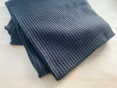 Cozy Waffle Knit Blanket | multiple sizes - charcoal