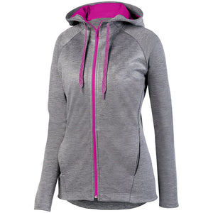 Ladies Zoe Tonal Heather Full Zip-Local School Left Chest Design