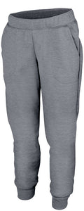 Ladies Tonal Heather Fleece Jogger -Local School thigh Design