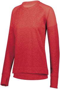 Ladies Zoe Tonal Heather Pullover-Local School Full Front Design