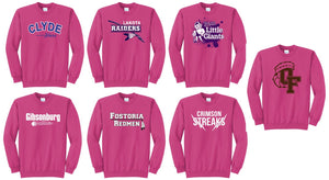 "Local School Fanwear- Crewneck Sweatshirt ""Pink Out"""