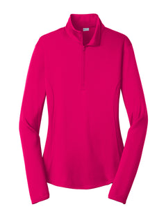 Ladies 1/4 zip Dri fit