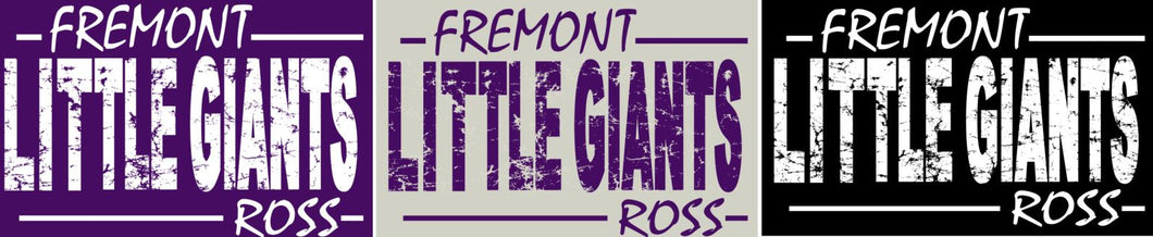 Fremont Ross (FRAS26) Design on Optional Apparel