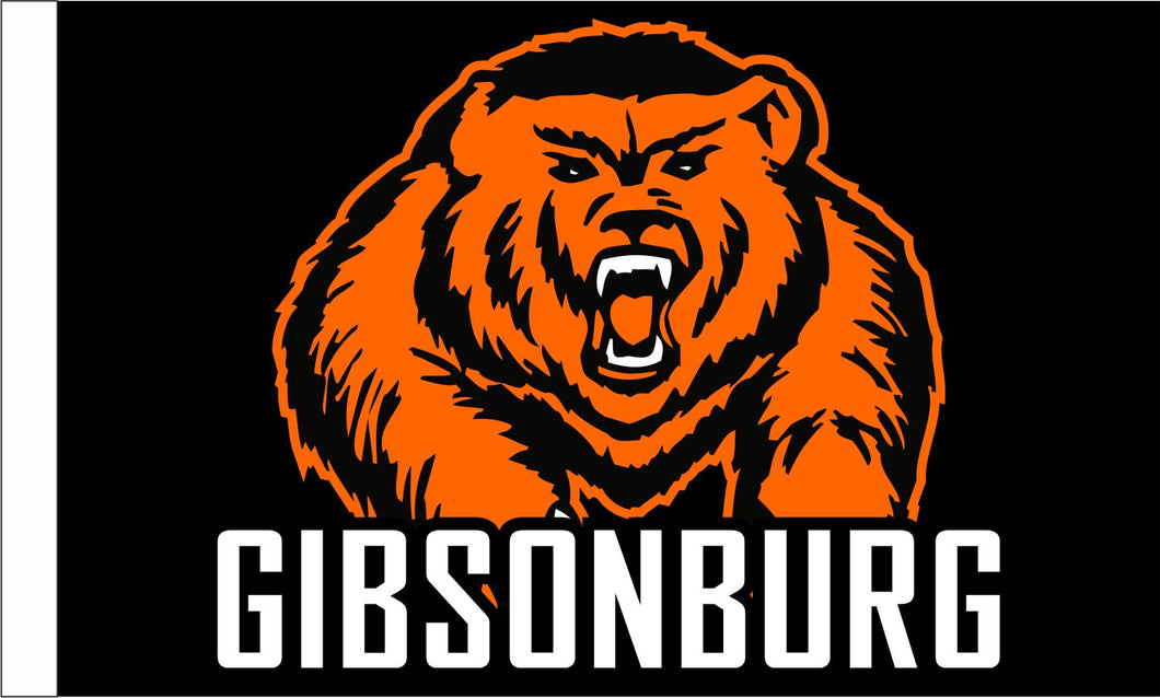 PRESALE! Gibsonburg Golden Bears  3' x 5' Double Sided Outdoor Flag