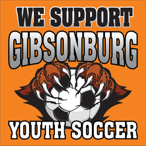 We Support Gibsonburg Youth Soccer- Yard Sign