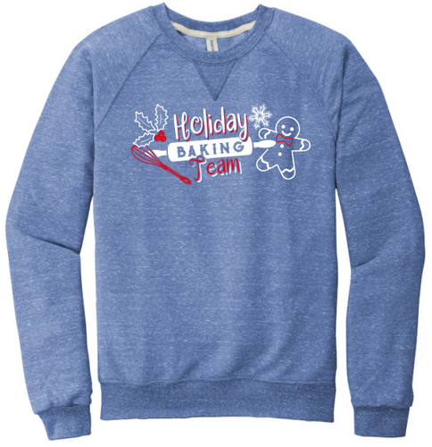 Holiday Baking Team- JERZEES ® Snow Heather French Terry Raglan Crew (91M)