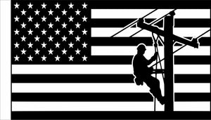 American Lineman Flag  3' x 5' Double Sided Outdoor Flag