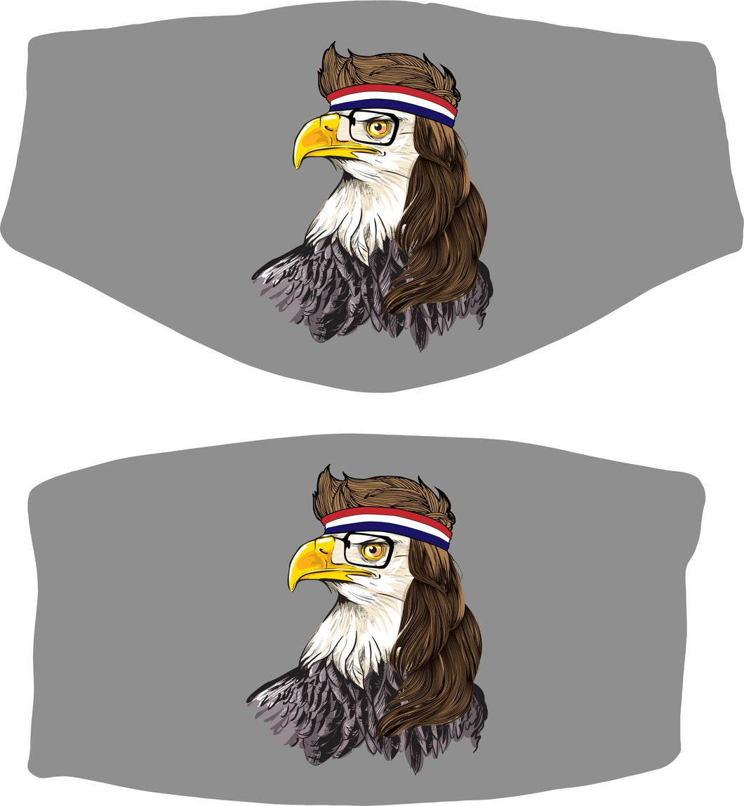 Eagle with a Mullet Face Mask