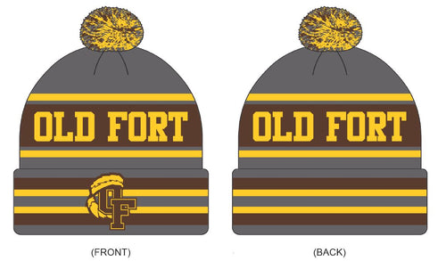 Old Fort PTO Custom Knit Beanie- Local School