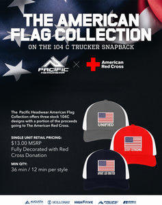 Pacific Headwear American Flag Collection Trucker Hat to Benefit the Red Cross
