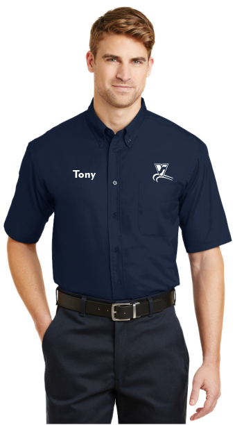 Vanguard Tech Center SP18 CornerStone - Navy Blue Short Sleeve Twill Shirt
