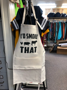 """I'd Smoke That"" grilling apron"