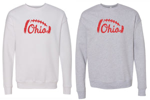 Distressed Ohio Football Super Soft Crewneck Sweatshirt